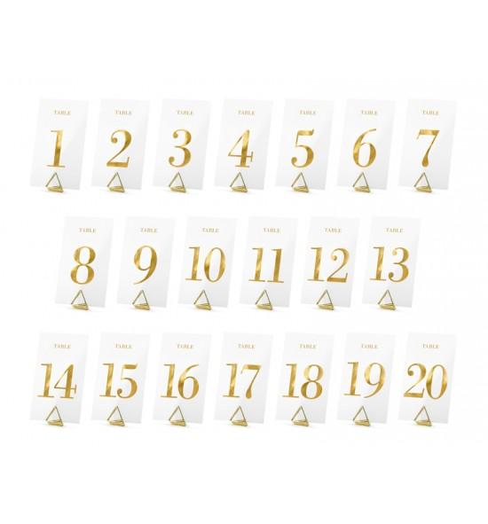 Auksiniai stalo numeriai