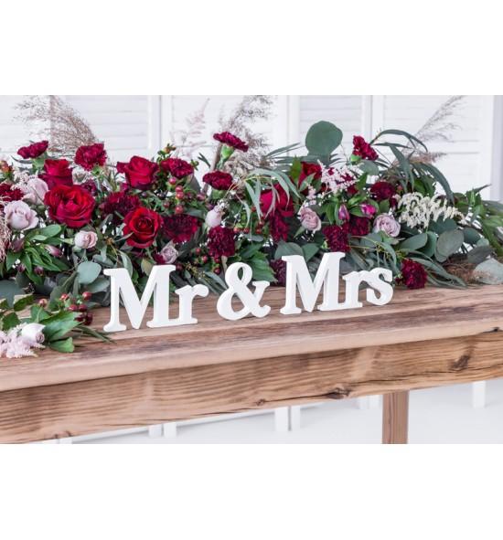 """Dekoracija """"Mr & Mrs"""""""