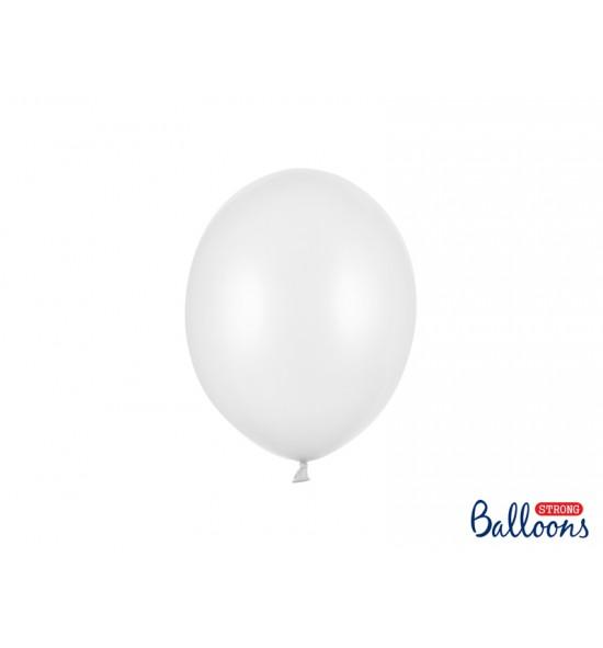 Balti balionai STRONG 23 cm (100 vnt.)
