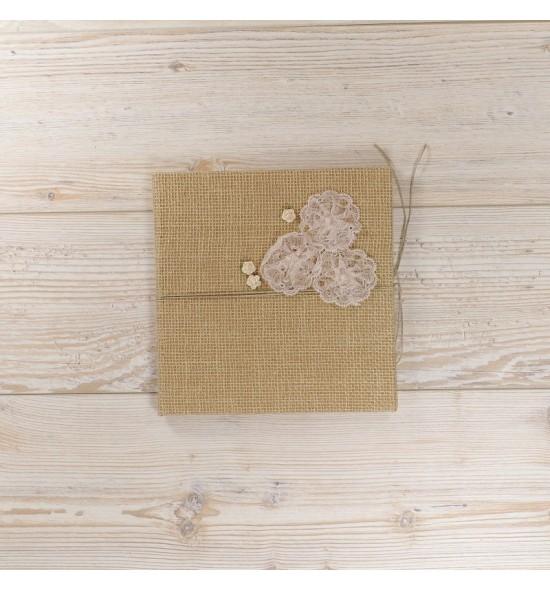 Svečių knyga Rustic gėlės
